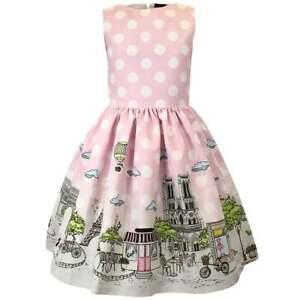 LOVE MADE LOVE Polka Dots Gr. 158 164 cm Mädchen Kleid Rosa PARIS NEU A5961