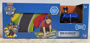 "Paw Patrol Chase Megamat Vehicle Included 31.5"" x 27.5"" Soft & Durable Felt Mat"