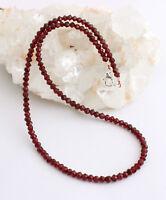Natur Granat Kette Edelsteinkette Facettierte halskette Weinrot Indian Collier