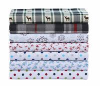 Luxury Cotton Flannel Sheet Set, Deep Pocket Warm Cozy Super Soft Bedding