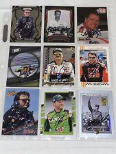 9 NASCAR HOFers SIGNED ESTATE LOT cards DALE EARNHARDT Gordon WALLACE Baker MORE