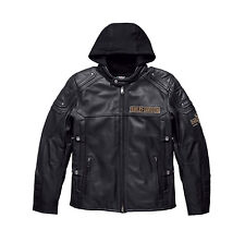 "Harley-Davidson Herren-Motorradlederjacke ""UPTON"" 3in1 *97154-17VM/000S* Gr. S"
