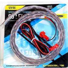 LED Strip Flexible Rope Light 5ft / 60 inches 12V DC Red Blue Amber White