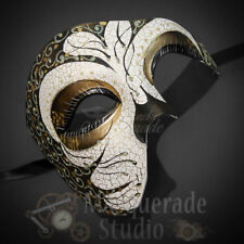 Mens Phantom of the Opera Venetian Mardi Gras Masquerade Ball Mask Tribal Design