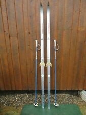 "Ready to Use Cross Country 78"" Long FISCHER 200 cm Skis +  Poles"