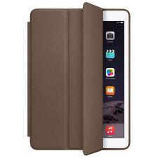 For iPad Air 2 Genuine Leather Smart Case Cover Slim Wake Dark Brown Original