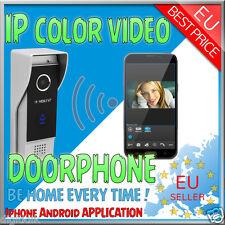 VIDEO CITOFONO IP CONNESSIONE WIFI 2,4 G WIFI SMARTPHONE ANDROID IOS DORBELL