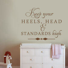 Inspiration Wall Sticker Keep Your Heels Word Girl Dressing Room Removable Decor