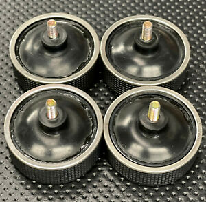4 original Technics turntable isolation feet for all 1200 Series Thread M6 black