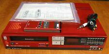 Sony Sl-2400 Beta Vcr, Striking Red Slim Design, Original Remote, Tests Great !