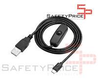 CABLE USB a MICRO USB On/Off INTERRUPTOR CARGADOR RASPBERRY PI 2 B 3 SP