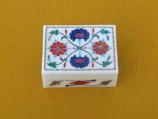 Decorative Marble Jewelry Box Pietra dura Handmade Craft Stone