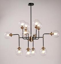 LED 12 Bulb Modern DNA Glass Bubble Pendant Ceiling Chandelier Lamp Lighting E14