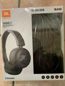 JBL T450BT Bluetooth Wireless On Ear Stereo Headphone Black Blue White Color New