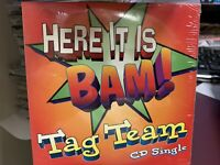 Tag Team HERE IT IS BAM! CD SINGLE 1994 Life Records 79520 SEALED