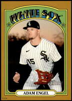 Adam Engel 2021 Topps Heritage 5x7 Gold #376 /10 White Sox