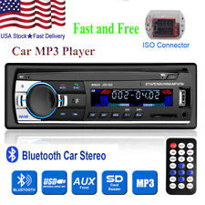 1 DIN 12V Car Stereo Radio FM Head Unit Audio BT SD/USB/AUX In-Dash MP3 Player