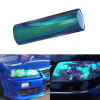 Blue Chameleon DIY Car Headlight Tail Light Cover Vehicle Exterior Film Sticker