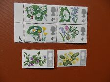 Great Britain Flowers 1967.  MNH.