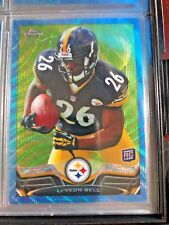 """2013 TOPPS CHROME FOOTBALL COMPLETE BLUE WAVE REFRACTOR SET- LE""""VEON  BELL"""