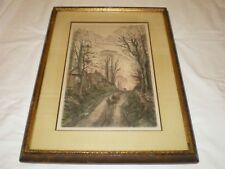 Frederick Fred Slocombe 1872 Color Etching Pinner Middlesex English Countryside