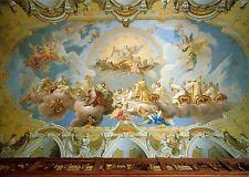 Alte Kunstpostkarte - Stift Seitenstetten - Deckenfresko - Das Lamm Gottes