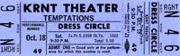 """THE TEMPTATIONS 1969 """"CLOUD NINE"""" TOUR KRNT UNUSED BLUE CONCERT TICKET-NM~MINT"""