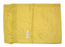 Gold Pashmina & Silk Shawl Scarf