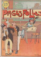 PAGES FOLLES n°8 - 1910. BARN, RABIER, MORISS...