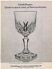 PUBLICITE ADVERTISING 054 1976 CRISTAL D ARQUES modèle Chaumont verre