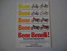 advertising Pubblicità 1979 MOTO BENELLI G2/254/354 SPORT/900 SEI