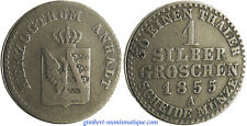 ALLEMAGNE , ANHALT  ,  1  SILBERGROSCHEN  ARGENT  ,  1855  A