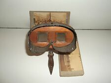 Rare old vintage stereoview finder camera with photographs of 1897.