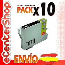 10 Cartuchos de Tinta Negra T0711 NON-OEM Epson Stylus Office BX600FW