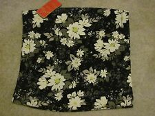 Candies Floral Skirt Black, White & Yellow Size Med NWT MSRP $28 Buy Now $13.99
