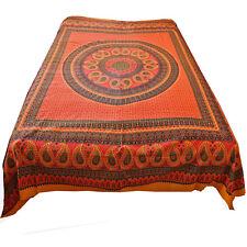 COUVRE-LIT COUVERTURE Rajasthan Coton CLASSIC INDE TISSU Déco orange 12
