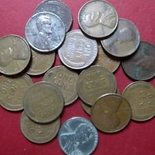 """*Mixed LOT of 25 Vintage  LINCOLN """"WHEAT"""" CENTS, Fine Circulated Coins Lot # 8"""
