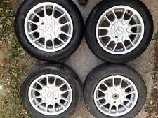 4 jantes 14'' en alu de marque AZEV pour Peugeot + 2 pneus Michelin quasi neufs