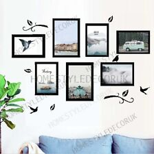 Removable Photo Frames Birds Set of 7 Wall Decal Stickers Home Decor Vinyl Mural