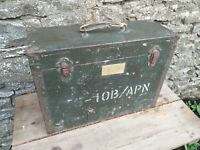 Collectable Vintage c1959 Military Aircraft Instrument Wooden Case