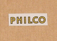 Philco Radio Logo Water Slide Decal - Old Antique Wood Vintage Tube Radio Parts