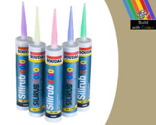Beige Colour Silicone Sealant Soudal 310ml Indoor & Outdoor use Home DIY Mastic