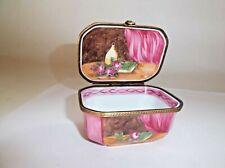 Peint Main Limoges Trinket-18th Century Style Trinket Box