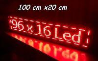 96 x16 LED Laufschrift 1536 LEDs ca 100 cm x 20 cm Rot , Leuchtrekalme Werbung