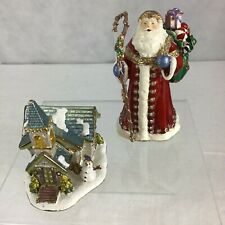 New Listing2) Nobility Austrian Crystals Bejeweled Hand Painted Enamel Trinket Boxes