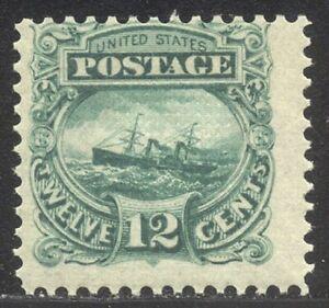 U.S. #117-E2e Mint Essay - 1869 12c Ship, Green ($125)