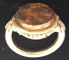 Roman SEAL RING Silver Ancient 100-200 B.C.