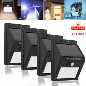 LED Solar Powered PIR Motion Sensor Light Outdoor Garden Security Wall Lamp 1-4