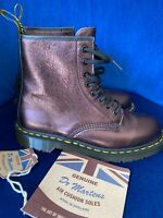 Dr Martens made In England UK 8 1460 Boots Metallic Cherry Red Anilmorbido