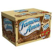 42 Pack Famous Amos Chocolate Chip Cookies 2 oz Each
